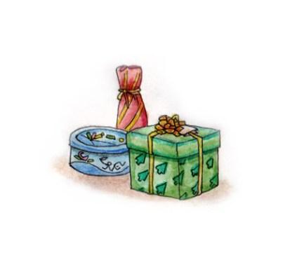Xmas watercolours - Presents