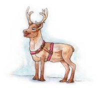 Xmas watercolours - Reindeer
