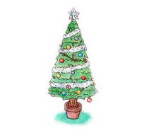 Xmas watercolours - Xmas Tree