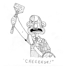 Inktober Day 5: William Wallace and Gromit