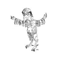 Inktober Day 8: Cherokee Raven Mocker