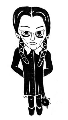 Inktober Day 9: Wednesday Addams