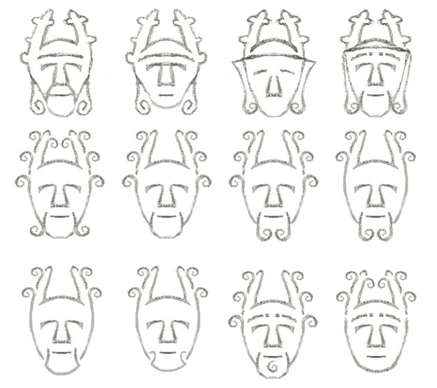 A range of mask sketches