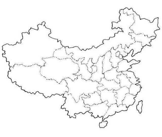 Blank China Map