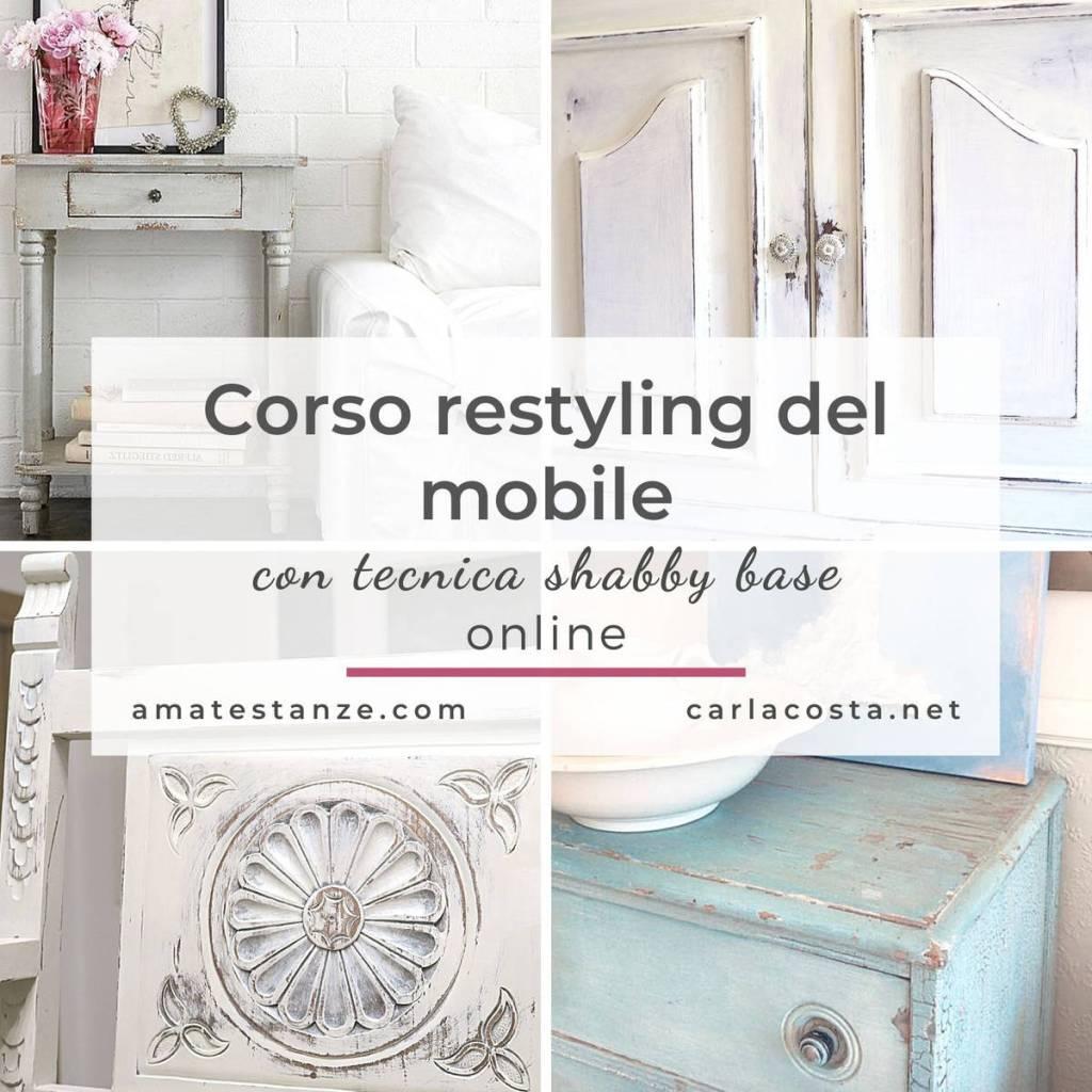 Corso restyling del mobile con tecnica shabby base