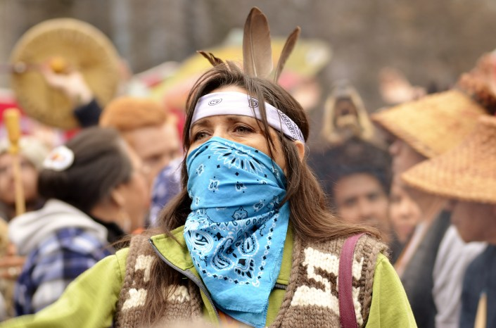 Stop Kinder Morgan: No Consent, No Pipeline, March and Rally, November 19, 2016, Vancouver, BC. — with Cecilia Point.