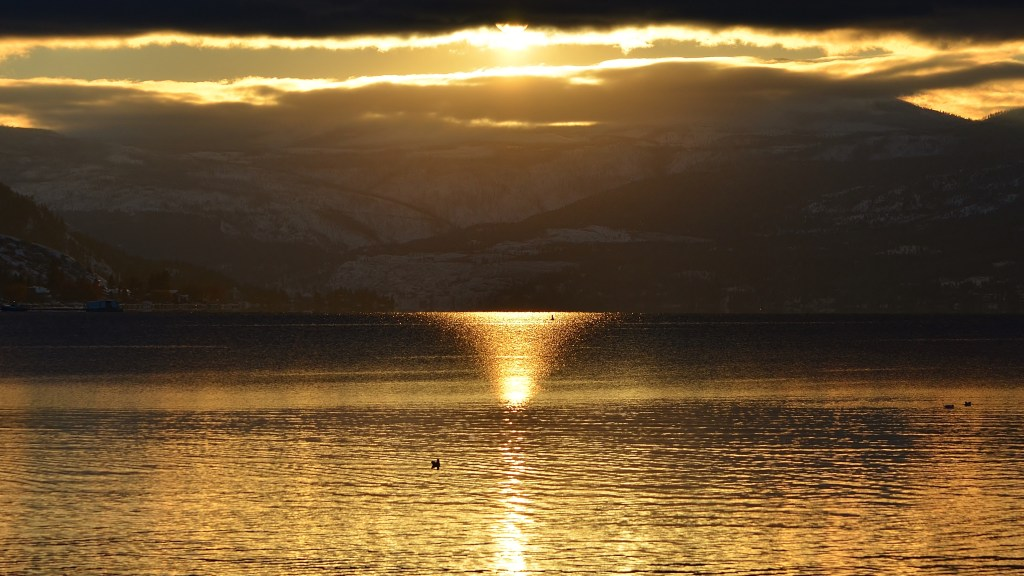 Okanagan Lake Sunset