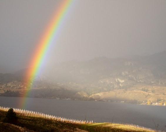 Rainbow over Kaleden, BC