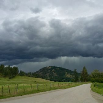 Storm coming, Coldstream, BC