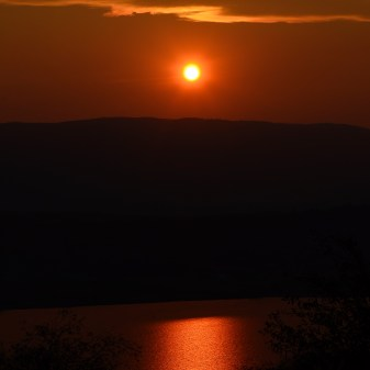 Wildfire Sunset over Swan Lake