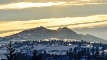 Lovely winter afternoon, Vernon, BC