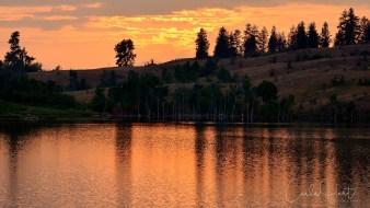 Sunset at Rose's Pond, Commonage, Vernon, BC