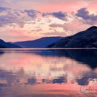 Sunset on Kalamalka Lake, Coldstream, BC