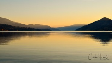 Sunset on Kalamalka Lake, Coldstream, BC