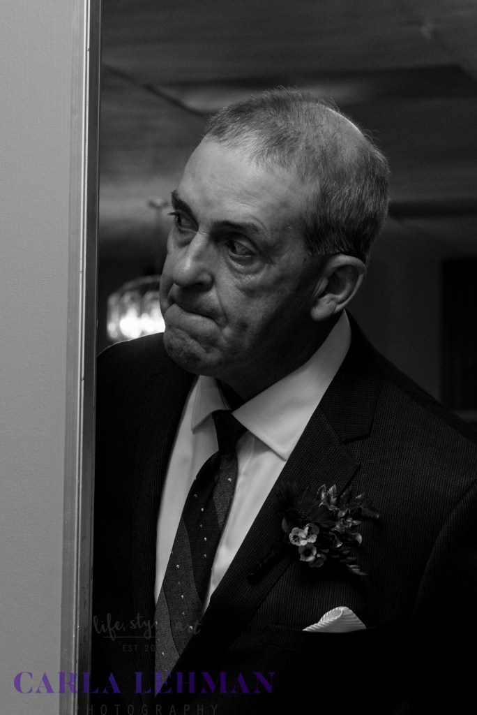 Nervous father of the groom at the Norseman Inn , Camrose.