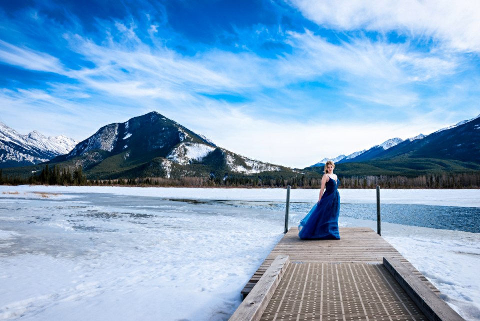 Winter Graduation Photo Session in the mountains