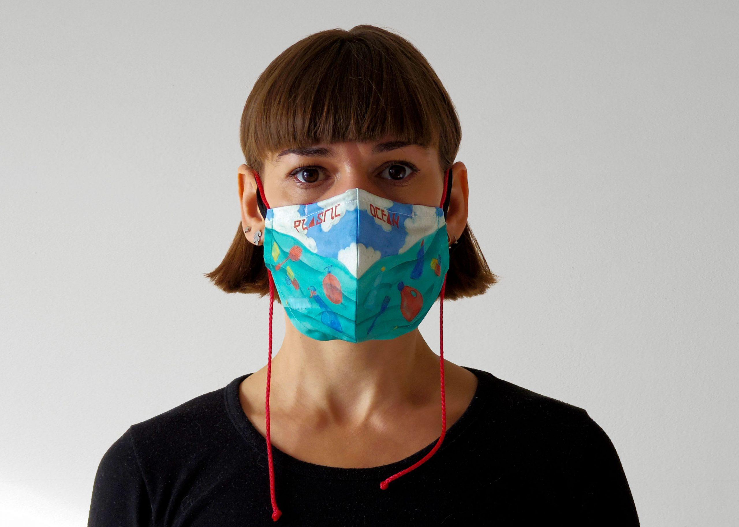 face-mask-carla-rod-climate-change-landscape-plastic-ocean-habitat-loss-pattern-art-watercolor-design-front-view