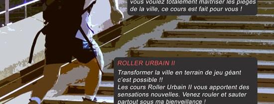 Cours de roller «urbain» dans le Parc Lafontaine