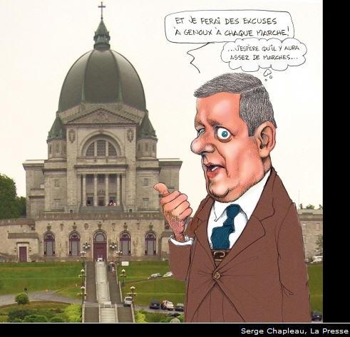 Message sous-entendus : Harper aime leglise et leglise aime Harper. Il faut normaliser cette alliance