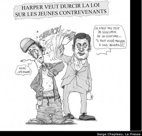 Message sous-entendus : Harper disciplinera le laissé-allé dans léducation