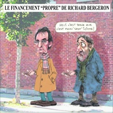"""Le financement """"propre"""" de Richard Bergeron"""