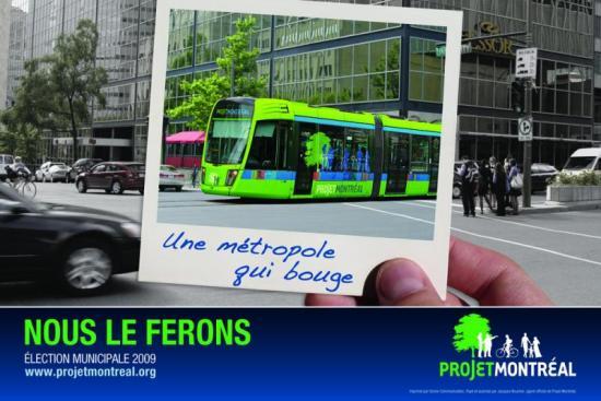 Projet Montréal propose le tramway