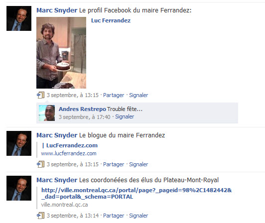 Marc Snyder sur Facebook