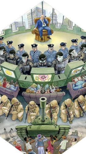 Évidemment, dans la culture d'une nation conquérante, le concept d'agression est valorisé puisqu'il répond à la loi du plus fort; une notion qui s'avère le premier fondement des barbares et du capitalisme sauvage. Ah, comme il est bien de pouvoir s'enrichir librement, de faire des guerres sans scrupules et d'exploiter le tiers-monde comme du bétail! Et qu'il est finalement utile d'avoir des ennemis pour faire peur au monde et justifier le lobby des armes, de la guerre et de la violence! Et surtout, comme il est nécessaire de transformer le peuple en une base électorale abrutie par la propagande guerrière... cette masse de consommateurs «boosté» à la publicité afin de stimuler la demande en ressources premières.