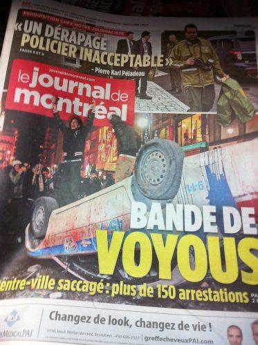 Propagande populiste du Journal de Montréal