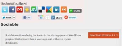 Sociable pour WordPress