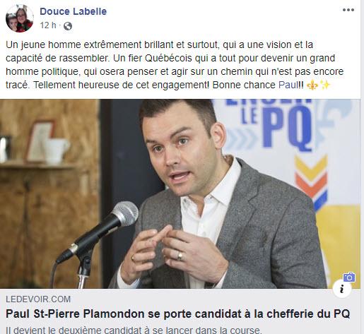 Paul St-Pierre Plamondon se porte candidat à la chefferie du PQ
