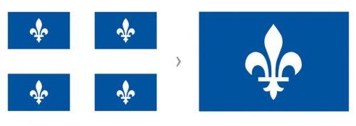 Essai graphique sur le drapeau québécois