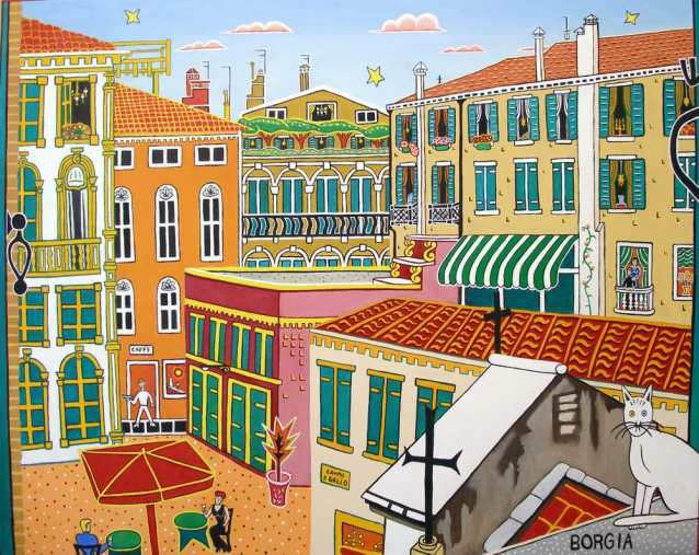 St. Gallo's Square, 40 x 50 inches
