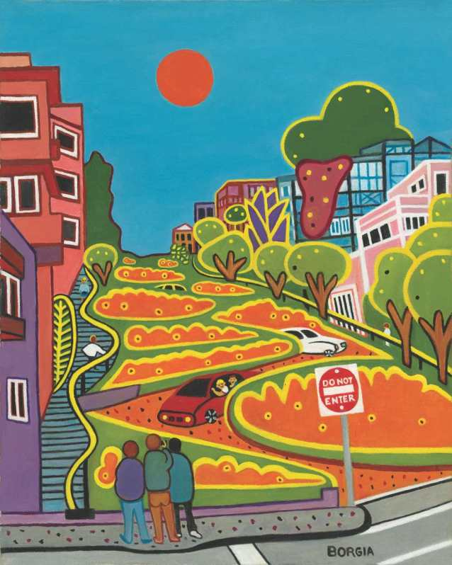 Up Lombard, 20 x 16 inches