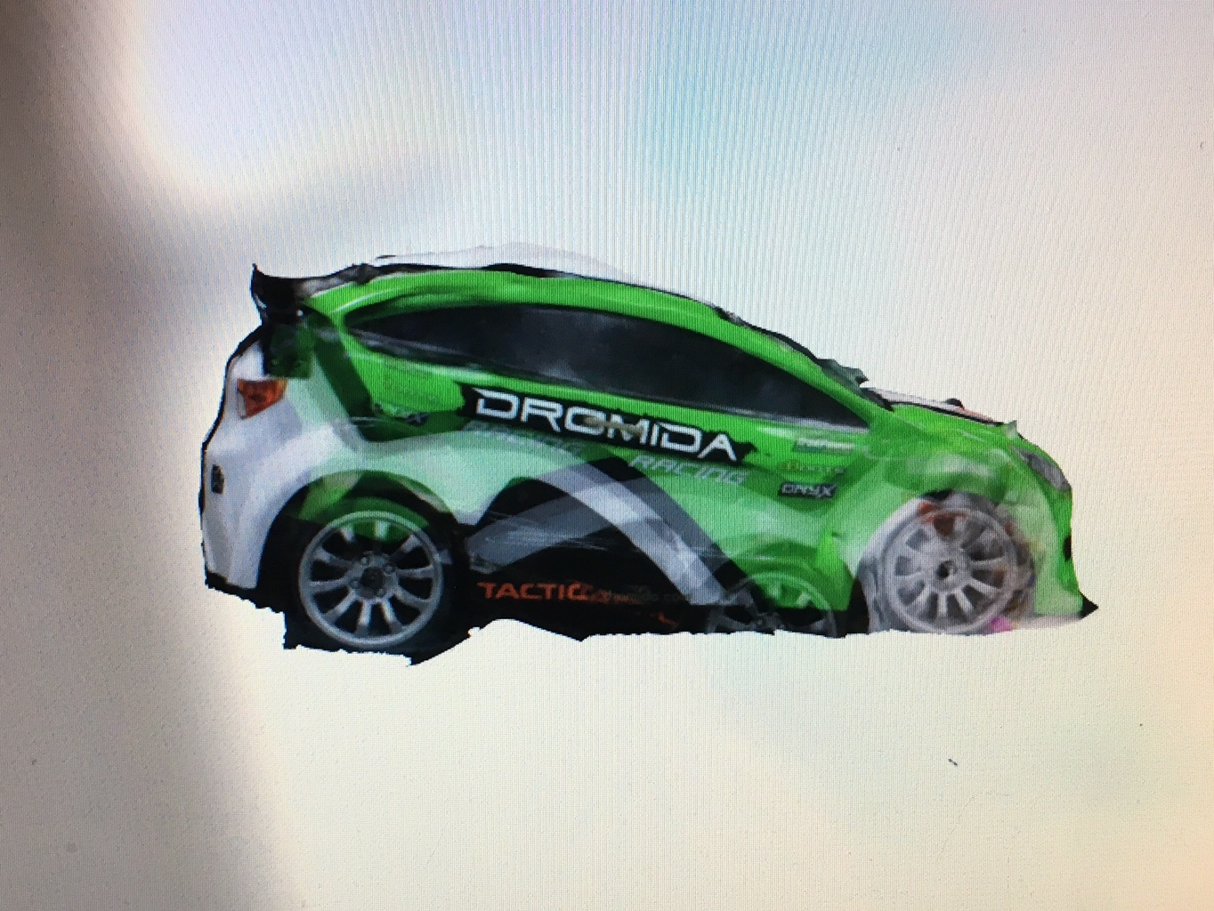 Race car 3D rendering