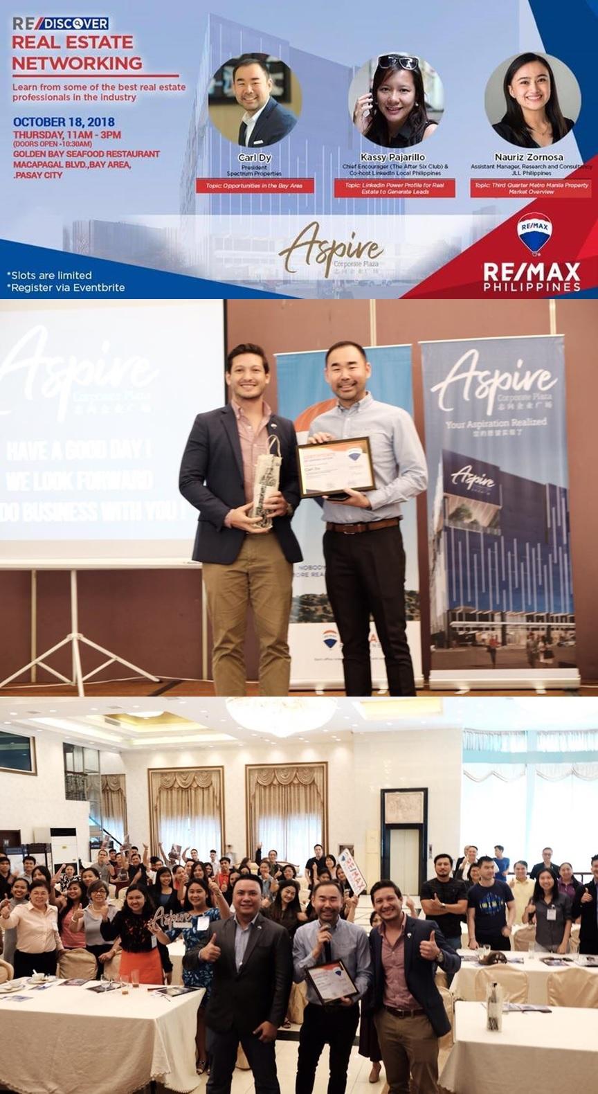 Aspire Real Estate Networking Remax Philippines Property Guru Carl Dy Spectrum Philippines Property Jardin Wong Kassy Pajarillo Nauriz Zornosa.jpg