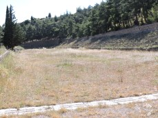 The mountain-top stadium, where ancient Greeks raced their chariots.