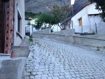 I walked up and up through steep and winding cobble-stoned streets toward the music.
