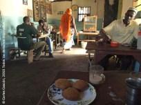 Mandazi na chai at Kilimanjaro Cafe, Ukunda
