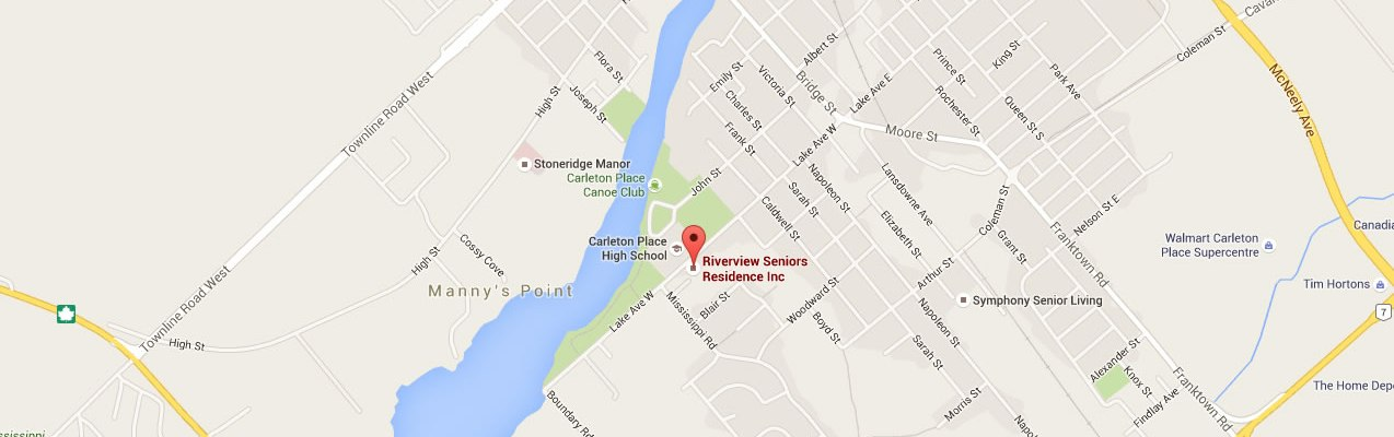 Carleton Place seniors residence Riverview - location map