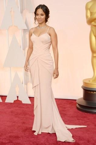 zoe-saldana Oscars 2015