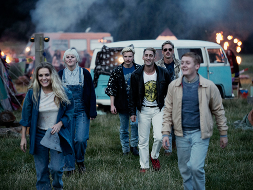 Chanel Cresswell as Kelly, Danielle Watson as Trev, Joe Dempsey as Higgy, Michael Socha as Harvey, Perry Fitzpatrick as Flip and Thomas Turgoose as Shaun