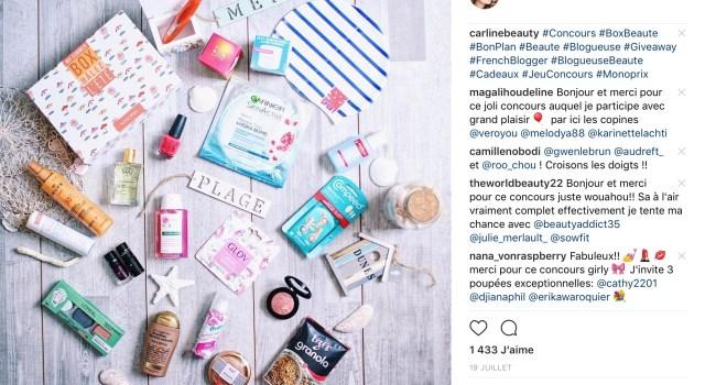 probleme commentaire instagram concours