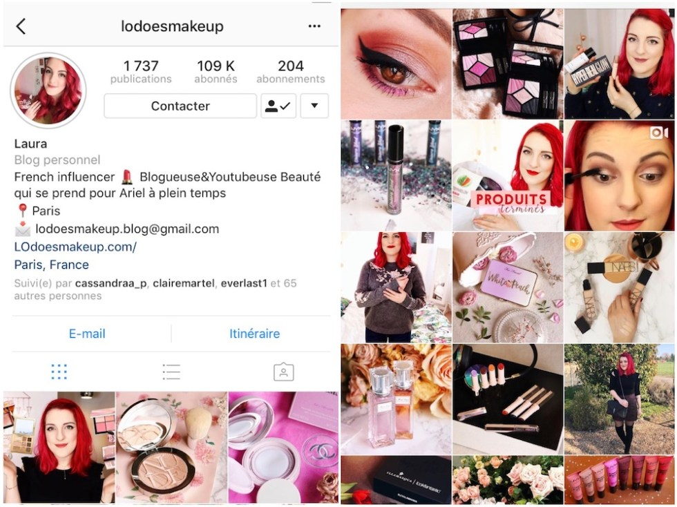 comptes instagram favoris