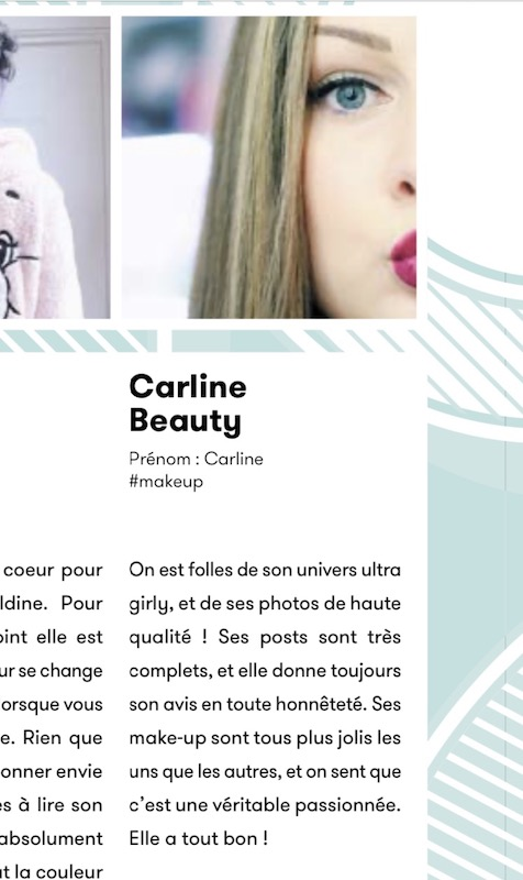 carline beauty blogueuse presse