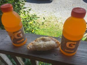 Gatorade and fried apple pie.