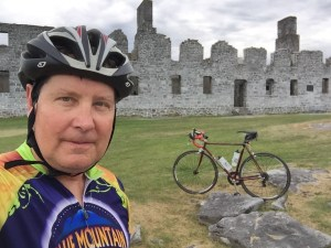 Cycling to the ruins of the fort at Crown Point, NY