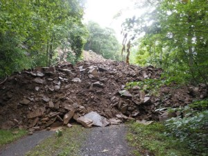 Damage to the Trail Courtesy Greenbrier River Trail Association