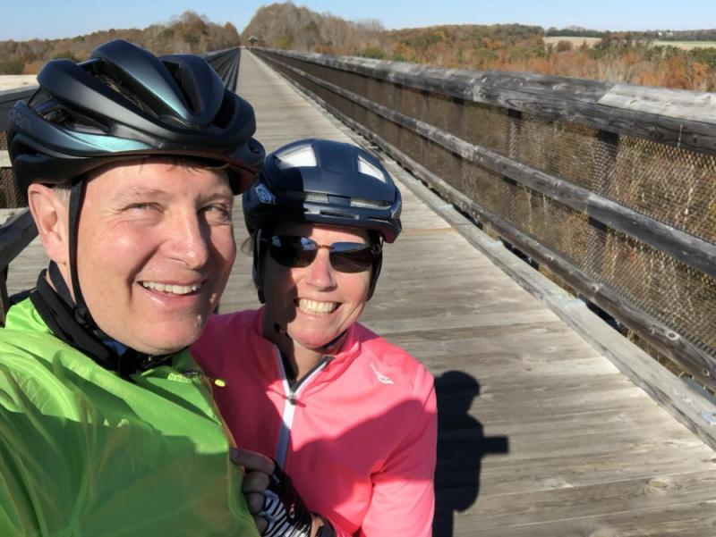 Mary and I on the High Bridge Trail