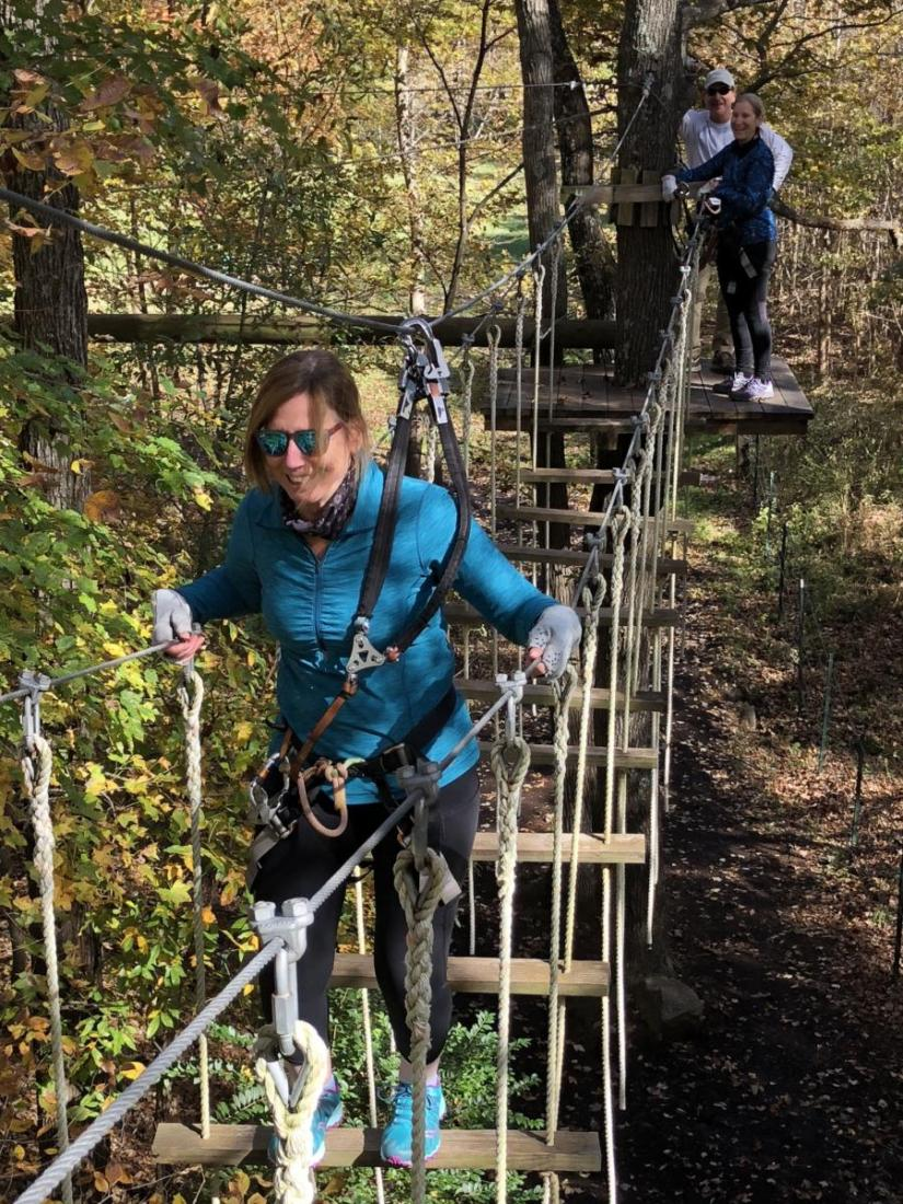The Sandy River Adventure Park also offers a high ropes course.